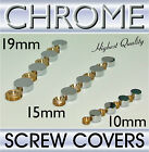 Chrome Screw Head Covers Mirror & Sign Fixing x 4