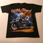 QualityT.Shirt With Motorbike Color In Front Black White At Back Size S - XXL
