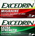 Excedrin Migraine Or Extra Strength Acetaminophen, 300 Caplets Each Bottle