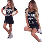 Sexy Womens Casual Short Sleeve Loose Mini Dress Long Tops Blouse T Shirt Hot S