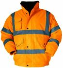 Hi Vis Contractor Bomber Jacket reflective safety waterproof CLEARANCE