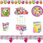 SHOPKINS PARTY SUPPLIES!  PLATES CUPS TABLECLOTH BUNTING NAPKINS FREE POST!