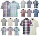 Mens Champion Country Style Fine Quality Casual Check Short Sleeved Shirt