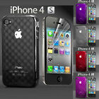 Apple iPhone 4 and 4S Ultra Protection Case Cover + 2 Screen Protectors.