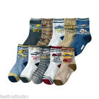 Baby Kids Boys Children Car Style Anti-Slip Socks Age 4 - 8 Years Lot 10 Designs