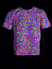 "Schwarzlicht Neon Classic T-Shirt ""Candy Splash"" Festival Goa Blacklight"