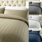 LUXURY 100% 800TC STRIPED EGYPTIAN COTTON SHEETS SATIN DUVET COVER PILLOW CASES