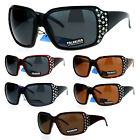 SA106 Polarized Lens Oversize Rhinestone Bling Iced Out Womens Sunglasses