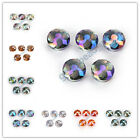 10Pcs Polish Stardust Crystal Flying Saucer Beads DIY Jewelry Makings 14/18mm