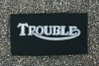 "TRIUMPH MOTORCYCLE TEE Funny Vintage ""TROUBLE"" T-Shirt Black Cotton Men's S-3XL $33.05 CAD on eBay"