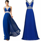 New Long Formal Graduation Prom Bridesmaid Ball Gown Evening Dresses Size 2 4 6+