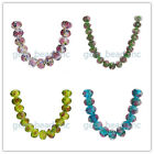 12x8mm Faceted Charm Lampwork Glass Flower DIY Jewelry Makings Loose Beads 6Ps