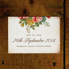 Shabby Chic Floral Illustrations Postcard Save the Date or Save the Evening