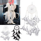 Beautiful New Circle Dream Catcher Feathers Wall Hanging Decoration Car Ornament