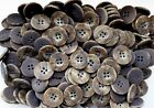 23mm 36L Natural Brown Embossed Textured 4 Hole Buttons Coat Jacket Craft (W221)