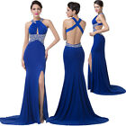 BEADS Sexy Long Mermaid Cocktail Evening Formal Party Prom Gown Bridesmaid Dress