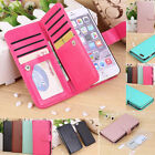 For Apple iPhone Magnetic 9 Card Slot Wallet Flip Leather Phone Case Cover &Film