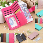 For iPhone 7 6 6s Plus Magnetic 9 Card Slot Wallet Flip Leather Phone Case Cover
