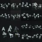 Letters Alphabet Words Clear Austrian Crystal Loose Spacer Beads Crafts Findings