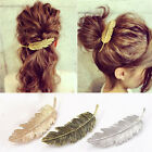 Women Chic Metal Leaf Hair Clip Hairpin Barrette Bobby Pins Acce Jewelry