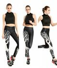 Womens Low Waist Fitness YOGA Sport pants Tree Printed Stretch Leggings Newest!