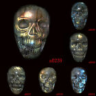Natural Labradorite Carved Skull Skeleton Cab 30×18×7mm