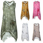 Ladies Womens 3 piece Lagenlook Layering Floral Scarf Tunic Italian Shirt