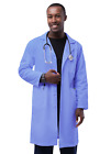 Adar Men Doctor Nurse Uniform Lapel Collar Back Belt Inner Pockets Lab Coat