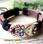 Men's Clay Made Color FACE MASK Fashion Leather Hemp Bracelet Wristband