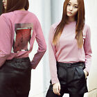 2NEFIT Korea Women's Fashion Long Sleeve Clothes Stripe Barrier T Shirts T-016
