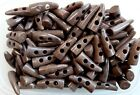 42mm Brown Marbled Pattern Horn Tooth Toggle Toggles Buttons Craft Sewing W232