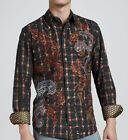 "Robert Graham Limited Edition ""Fulton"" Embroidered Shirt L $540 Only 311 Made"