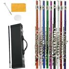 New 9 Colors Wind 16 Key Hole C Flute for Student Beginner School Band w/ Case