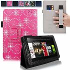 For Amazon Kindle Fire HD 8.9 Inch 2012 Hand Strap Leather Card Slot Stand Case