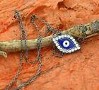 Necklace with Evil Eye Pendant-Sterling Silver- Evil Eye Necklace, Gift Idea!