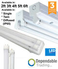 T8 LED Ready Batten Fittings Single, Twin & IP65 2ft 4ft 5ft 6ft - With Tubes