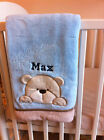 Personalised Deluxe Teddy/ Rabbit/ Cat Baby Blanket. Luxurious wrap