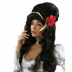 Amy Winehouse Wig Style Beehive Black Red Rose Rehab Fancy Dress Party Music