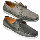 Mens Gio Gino Boat Deck Lace Up Loafers Shoes Designer Driving Moccasins Boots