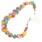 1/5x Wholesale Fashion Jewelry Ladies Colorful Patterns Oblate Shell Necklaces J