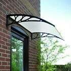 Door Canopy Awning Shelter Roof Front Back Porch Outdoor Shade Patio Black White