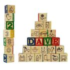 Wooden ABC 123 Building Blocks Kids Alphabet Letters Numbers Bricks Toy Set