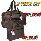 LADIES WOMENS COSMETIC MAKE UP BAG HAND LUGGAGE SET WEEKEND CARRY TOTE TRAVEL