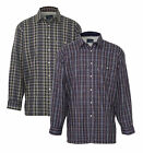 2 Pack Of Mens Champion Sherborne Warm Fleece Lined Padded Check Winter Shirt