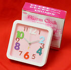 TRAVEL ANALOG ALARM CLOCK 4 COLOR RECTANGLE AA BATTERY OPERATED BUZZER BEDROOM