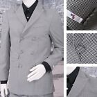 Get Up SLIGHT SECOND Double Breasted Slim Fit Dogtooth Suit Black