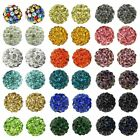 10Pcs Clay Disco Round Crystal Glass Spacer Beads 10mm