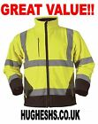 Hi Vis two tone soft shell jacket reflective safety construction PPE