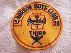 Vintage Harbor Boy's Club Flaming Torch Patch 1957-58