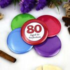 80th Birthday Party Badge - Button Pin Badge